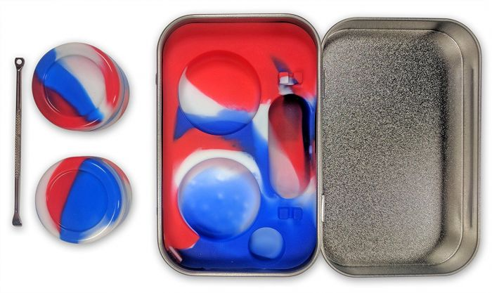 Metal Tin Silicone Jar Set 946