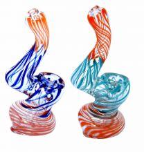 Mini Bubbler Multi Colored Fume Glass Pipe