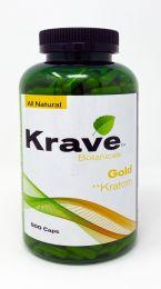 All Natural KRAVE Gold Kratom 500 Caps