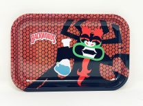 backwoods Aluminum Rolling Tray Black Red Color