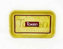 Token Aluminum Rolling Tray Gold Color