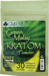 Kratom Green Malay Powder 30 Grams Pocket Club 13