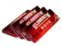 Elements Hemp 1 1/4 Slow Burn Red Magnetic Closure Rolling Paper