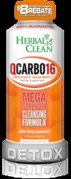 Herbal Clean QCarbo16 Same Day Detox Drink 16oz. Orange Flavor