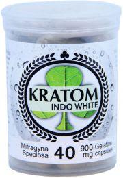 Kratom Indo White 40 Capsules Per Bottle