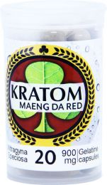 Kratom Maeng Da Red 20 Capsules Per Bottle