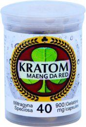 Kratom Maeng Da Red 40 Capsules Per Bottle