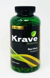 Krave Botanicals Red Hulu Kratom 500 Caps