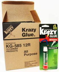 Krazy #1 Super Strong Fast All Purpose Glue 12 Pieces Per Box