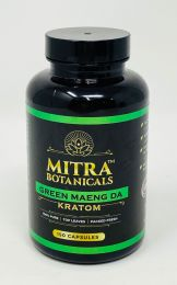 Mitra Botanicals Green Maeng Da Kratom 150 Caps Bottle