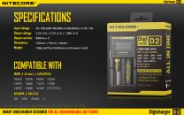 Nitecore Digicharger D2 Intelligent Different 2 Batteries Charger