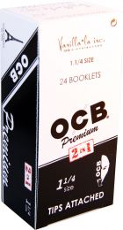 OCB Premium 2 In 1 Tips Attached 1 1/4 Box