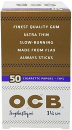 OCB Sophistique 1 1/4 Cigarette Rolling Papers + Tips Box