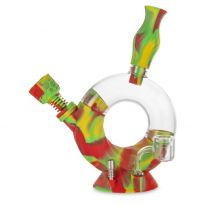 OOZE OZONE Silicone Glass Water Pipe
