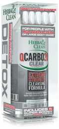 Herbal Clean QCarbo20 Same Day Detox Drink 20oz Lemon Lime