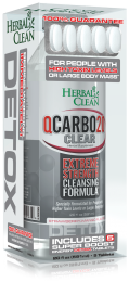 Herbal Clean QCarbo20 Clear Same Day Detox Drink 20oz + 5Tablets