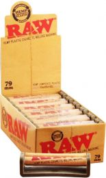 Raw Hemp Plastic Cigarette Rolling Machine 79mm 12 Rollers/Box