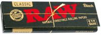 RAW Black 1 1/4 Classic Natural Unrefined Rolling Papers Pack