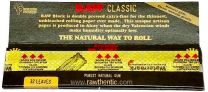 RAW Black Classic King Size Slim Unreifned Cigarette Papers