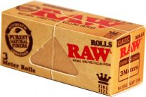 RAW Classic King Size Natural Unrefined Rolling Papers Rolls Box