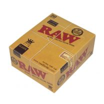 RAW Classic King Size Slim Natural Unrefined Rolling Papers Box