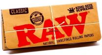 RAW Natural Unrefined Classic King Size Supreme Rolling Papers Pack