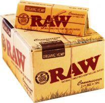 RAW Connoisseur Organic Hemp 1 1/4 Unrefined Rolling Papers