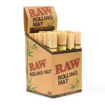 Raw Rolling Mat Natural Bamboo 24 Per Box