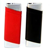 Rubber Finish Refillable Butane Lighter 12CT
