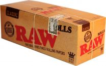 RAW Classic King Size Rolls Natural Unrefined Papers Box