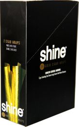 Shine 24K Gold Cigar Wraps 24 Packs of 2 Wraps