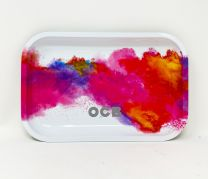 OCB Aluminum Rolling Tray White Pink Color
