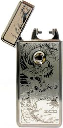 Zico ARC-01 USB Windproof Lighter Silver Dragon Engraved