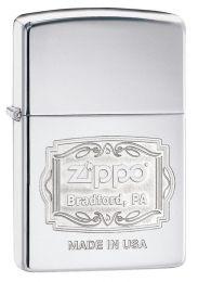 Zippo Bradford, PA Logo Lighter, High Polish Chrome 29521
