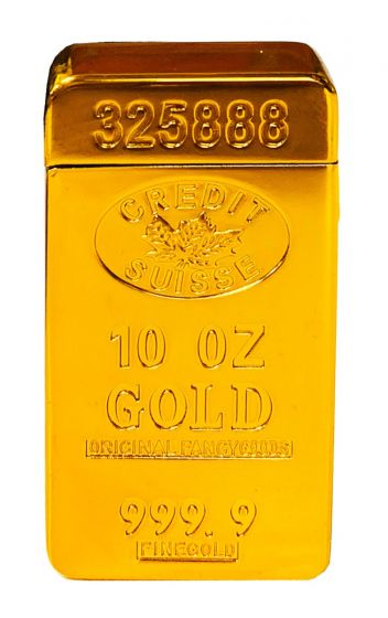 Gold Credit Suisse Windproof Lighter