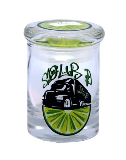 Sour Diesel 18 Wheel Truck 90ML Clear Glass Stash Jar