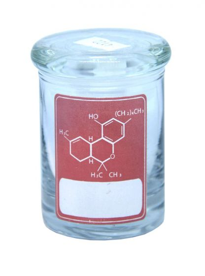 Delta 9 Thc Formula Red Label 90ML Clear Glass Stash Jar