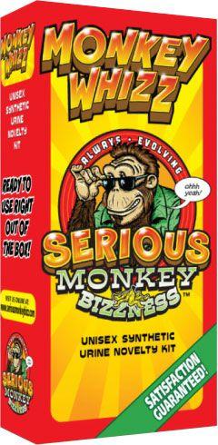 Monkey Whizz Urine Unisex Synthetic Urine Novelty Kit 3.5 Oz