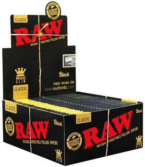 RAW Natural Unrefined Rolling Papers King Size Slim