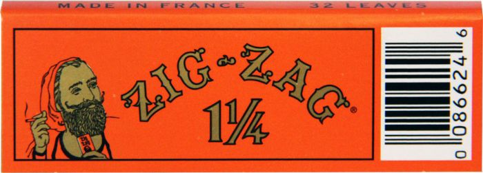 Zig-Zag 1 1/4 Orange Cigarette Papers Pack