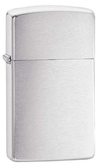 Zippo Slim Brushed Chrome Lighter 1600