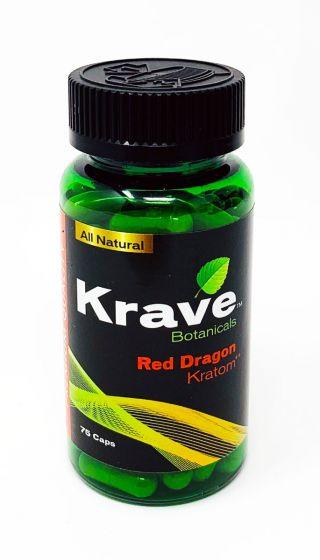 Krave Botanicals Red Dragon Kratom Pills