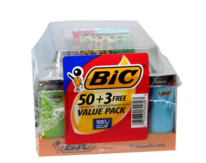 BiC Mini Special Edition Classic Lighter 50 Plus 3 Value Pack