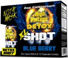 High Voltage Detox XL Shot Blue Berry 1 Bottle + 12 Capsules