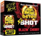 High Voltage XL Shot Detox Blazin Cherry 2oz Liquid+12 Capsules