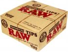 Raw Perforated Wide Natural Unrefined Hemp & Cotton Tips