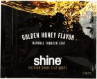 Shine Golden Honey Flavor Natural 3 Wraps Pack Rolling Tobacco Leaf