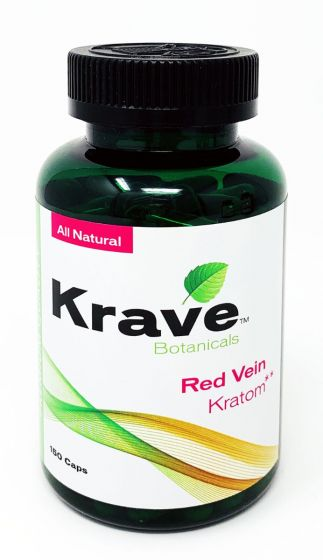 Krave Kratom Red Vein 150 Caps