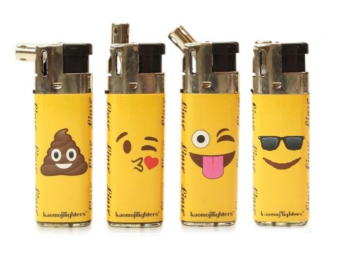Linse Kaomoji Retractable Electronic Lighter Pack Of 50 CT