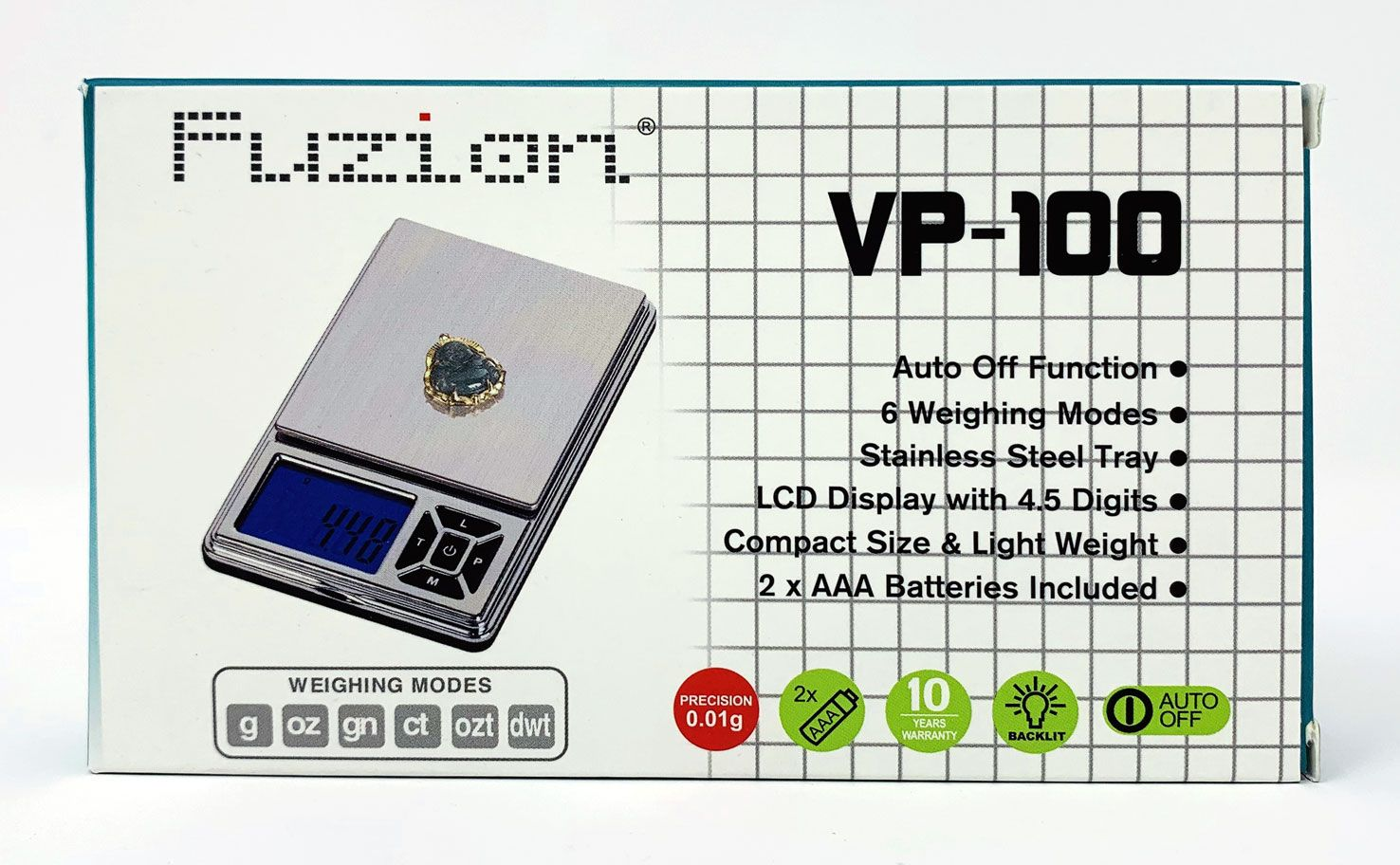 Fuzion VP-100 Digital Pocket Scale 100g x 0.01g
